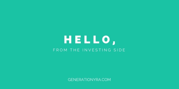 hello from the investing side
